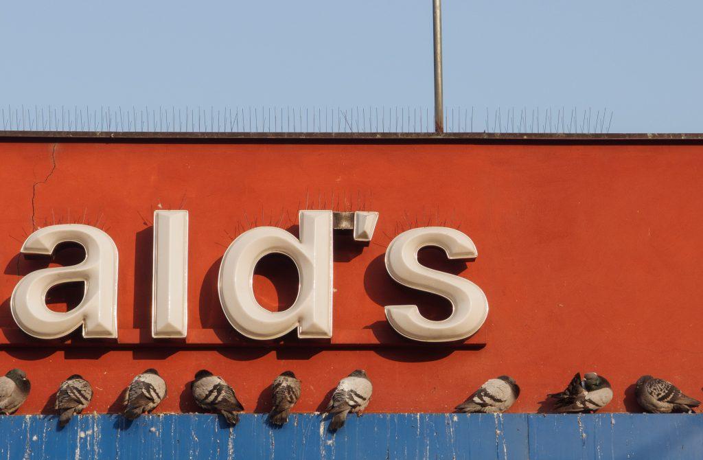 Ald's Pigeons - minimalist photography of McDonald's in Prague.