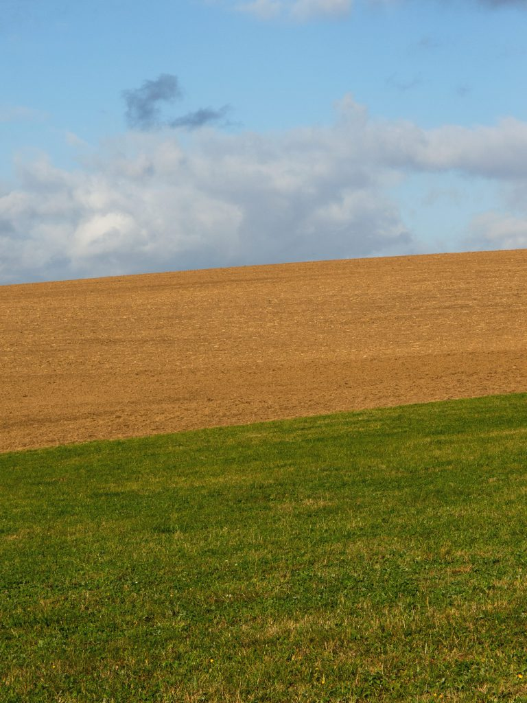 Field on minimalist landscape photography