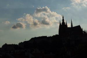 Prague Castle Silhouette