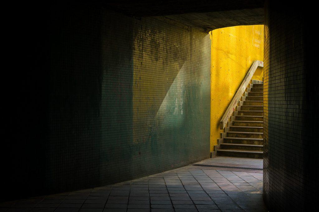 Minimalism in street photography: Dark Underpass