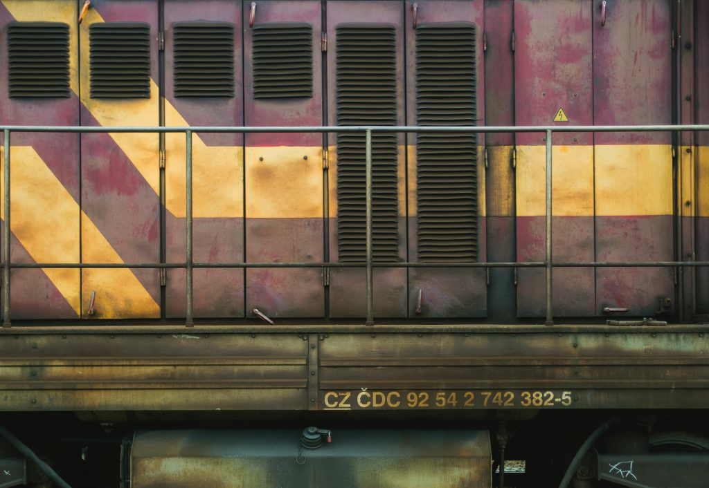 Minimalist photography: Diesel Locomotive
