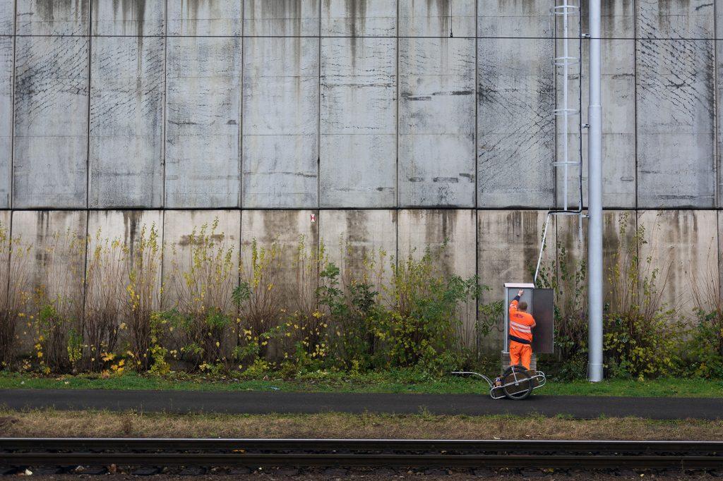 Railroad Worker - Street photography minimalism