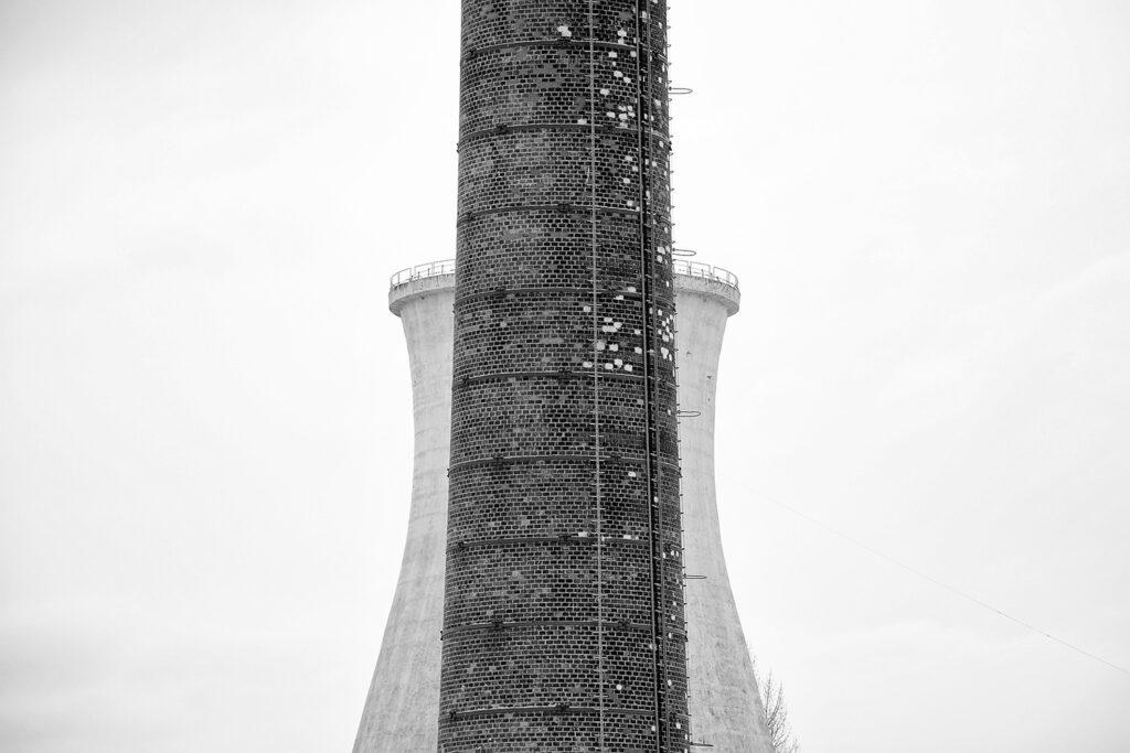 minimalist photography - factory chimney