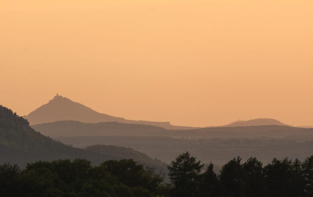 minimalist evening landscape