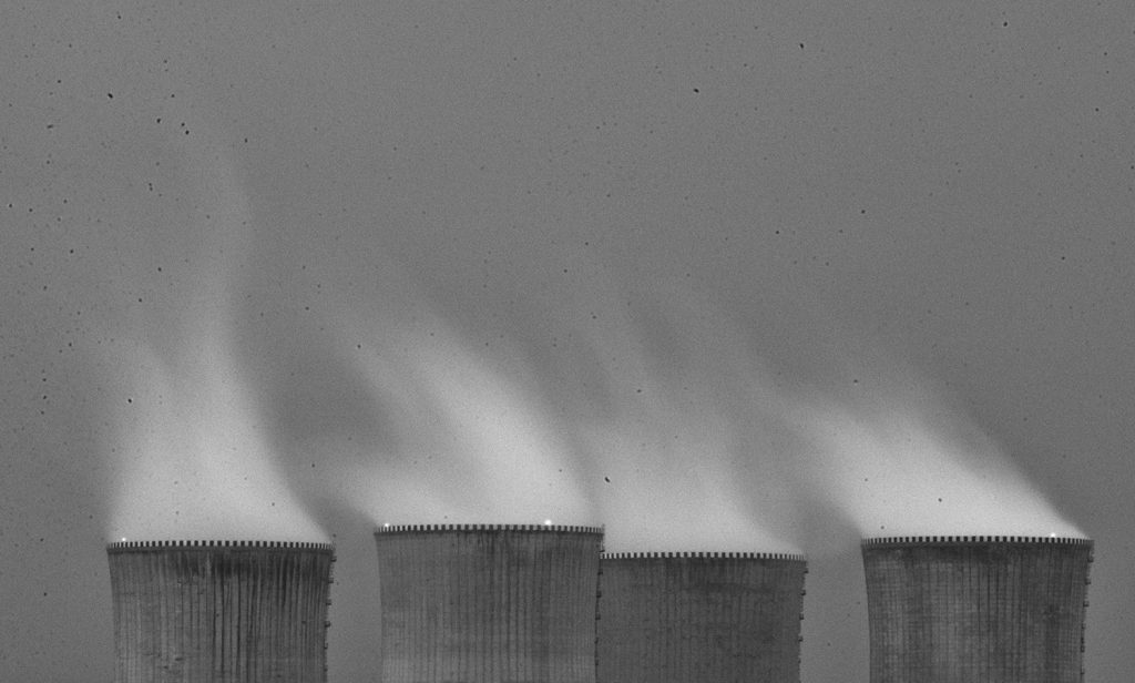 minimalist photography cooling towers