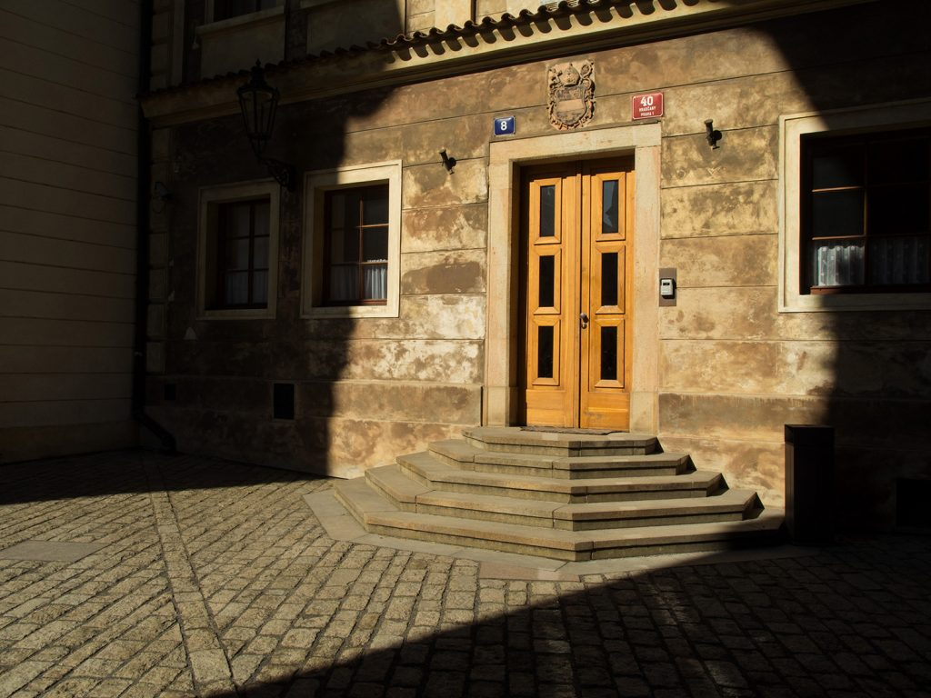 Minimalist street photography - Old city house door