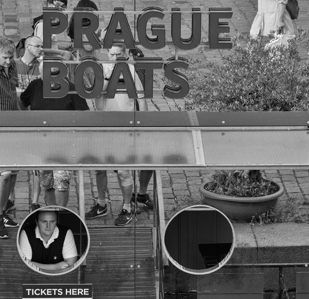 Prague boats - minimalist photography