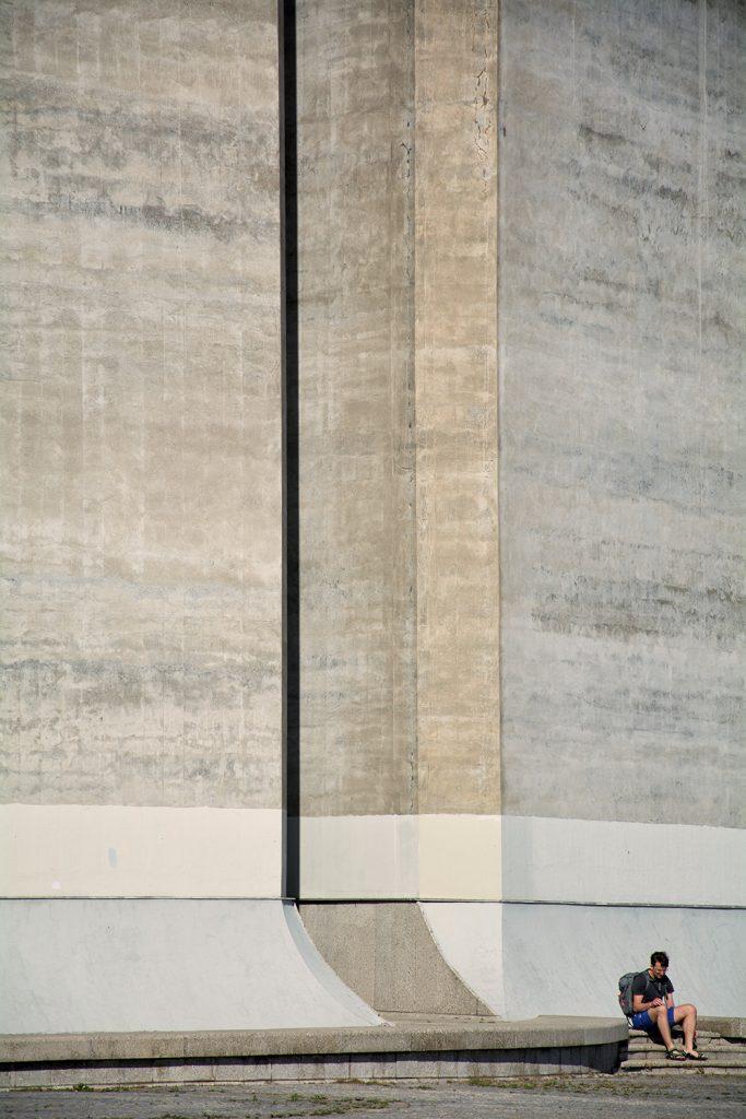 street minimalist photo - lonely man