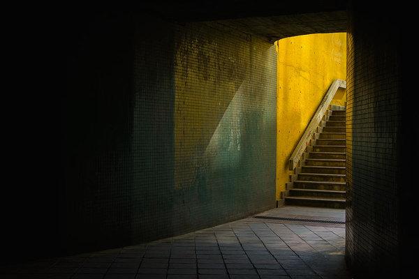 Dark underpass - fine art photography print by Martin Vorel