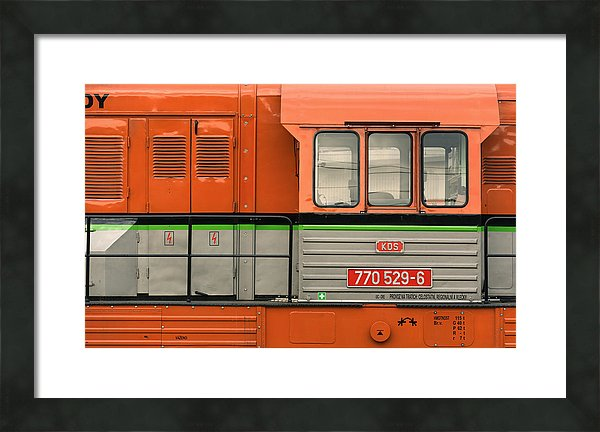 Locomotive - small framed print 41cm x 25cm