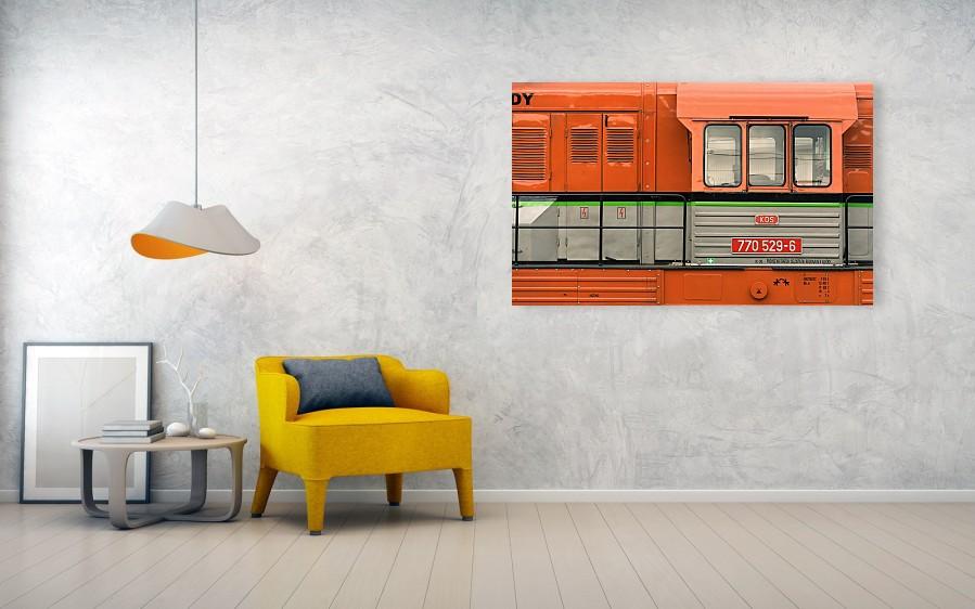 Locomotive minimalist photography - acrylic print 152cm x 94cm