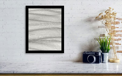 Art print with black frame without mat