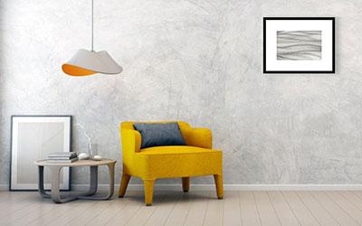Art Print Sample on Gray Wall