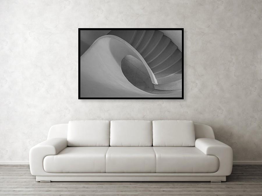 Curved Staircase 122cm x 81cm framed print