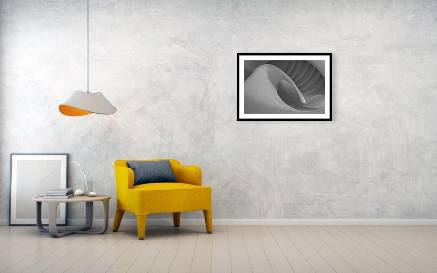 Curved Staircase 76cm x 51cm framed print