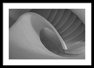 Fine art print with black frame and white mat - Curved Staircase