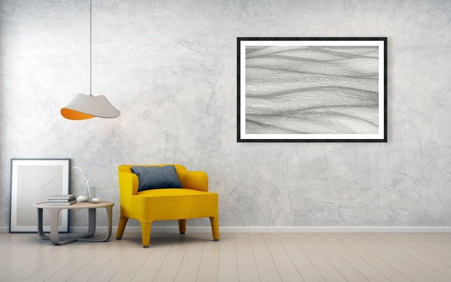 Minimalist Winter Snow Landscape - Photograph on the wall